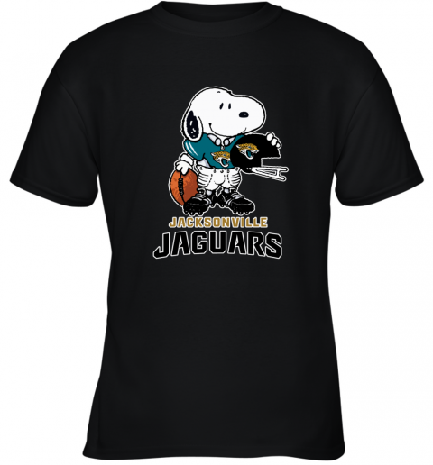Snoopy A Strong And Proud Jacksonville Jaguars NFL Youth T-Shirt