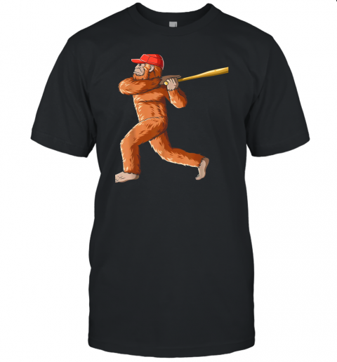 Bigfoot Baseball Sasquatch Playing Baseball Player Unisex Jersey Tee