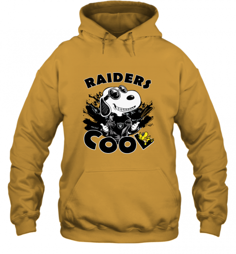 esum oakland raiders snoopy joe cool were awesome shirt hoodie 23 front gold