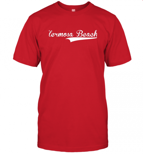 p1qo hermosa beach baseball softball styled jersey t shirt 60 front red