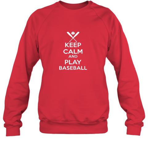 vnuz keep calm and play baseball sweatshirt 35 front red