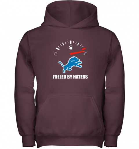 ssdm fueled by haters maximum fuel detroit lions youth hoodie 43 front maroon
