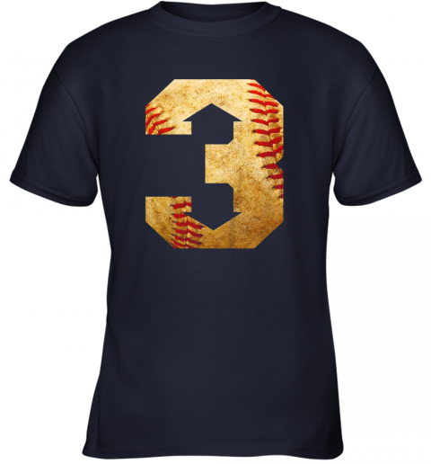 b3qc three up three down baseball 3 up 3 down youth t shirt 26 front navy