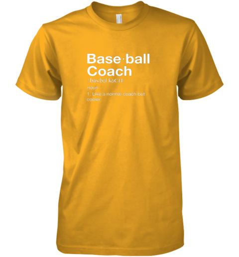 h3mq coach baseball shirt team coaching premium guys tee 5 front gold