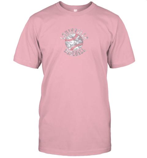 qo0u vintage louisville baseball jersey t shirt 60 front pink