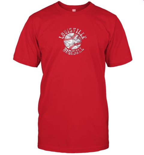 qo0u vintage louisville baseball jersey t shirt 60 front red