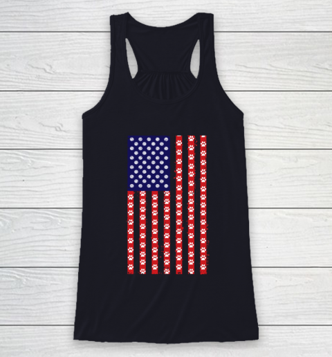 Volleyball Dog Lover American Flag Racerback Tank 7
