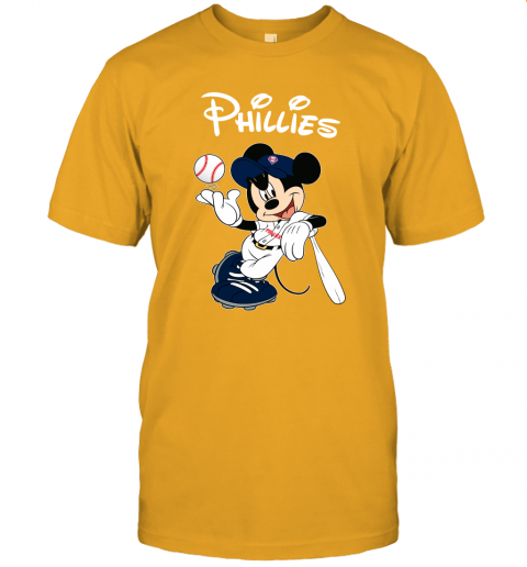 vdxf baseball mickey team philadelphia phillies jersey t shirt 60 front gold