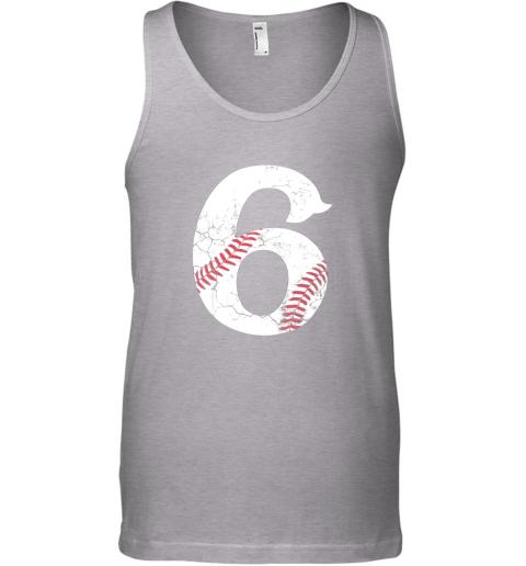 n4vp kids happy birthday 6th 6 year old baseball gift boys girls 2013 unisex tank 17 front sport grey