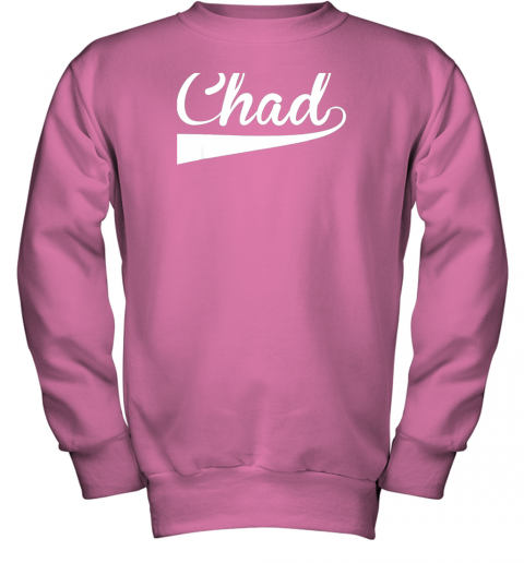 zcpf chad country name baseball softball styled youth sweatshirt 47 front safety pink