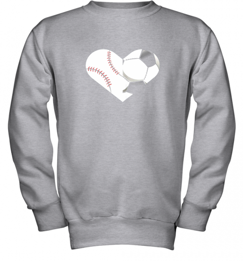 mvfz soccer baseball heart sports tee baseball soccer youth sweatshirt 47 front sport grey