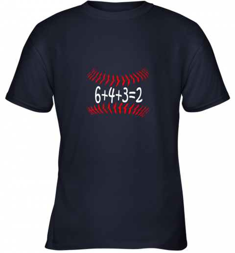 jjlg funny baseball 6432 double play shirt i gift 6 4 32 math youth t shirt 26 front navy