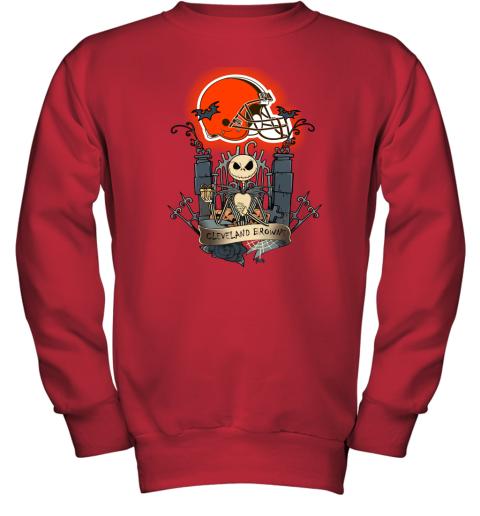 Cleveland Browns Jack Skellington This Is Halloween NFL Youth Sweatshirt