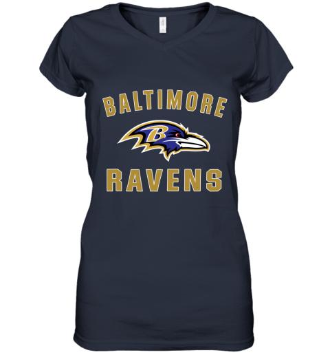4thx mens baltimore ravens nfl pro line by fanatics branded gray victory arch t shirt women v neck t shirt 39 front navy