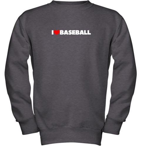 valw i love heart baseball youth sweatshirt 47 front dark heather