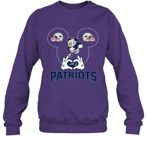 rmpk i love the patriots mickey mouse new england patriots sweatshirt 35 front purple