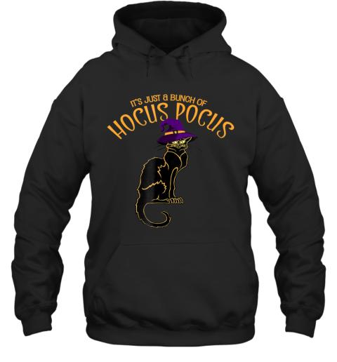 It's Just a Bunch of Hocus Pocus Shirt, Black Cat Halloween Hoodie