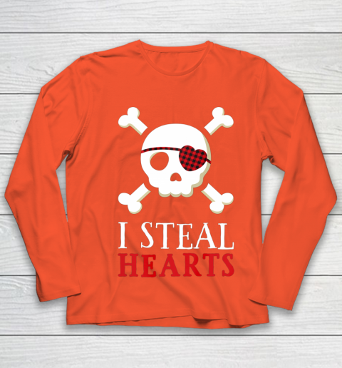I Steal Hearts T Shirt Boy Girl Toddler Skull Valentine Gift Youth Long Sleeve 3