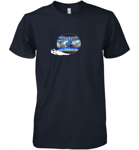 sokx vintage baseball israel flag shirt israelis pride premium guys tee 5 front midnight navy