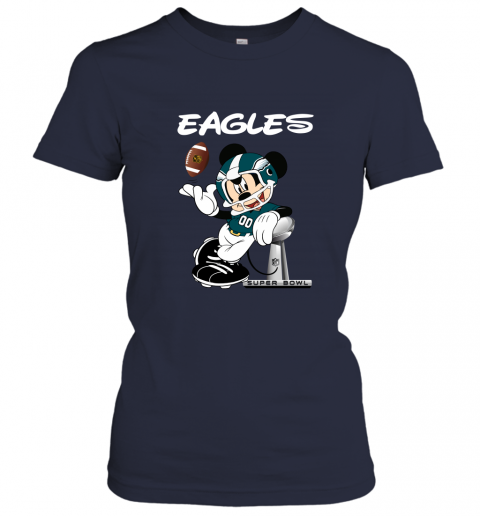 thgx mickey eagles taking the super bowl trophy football ladies t shirt 20 front navy