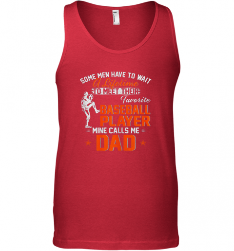 nsmt my favorite baseball player calls me dad funny father39 s day gift unisex tank 17 front red