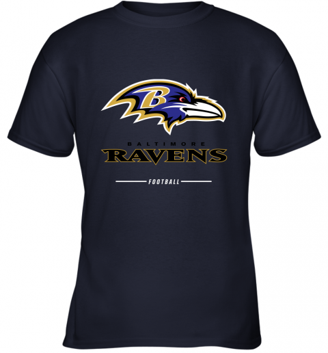 rsqv mens baltimore ravens nfl pro line black team lockup t shirt youth t shirt 26 front navy