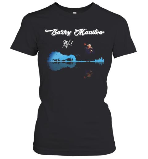 Barry Manilow Guitar Ưater Reflection Women's T-Shirt