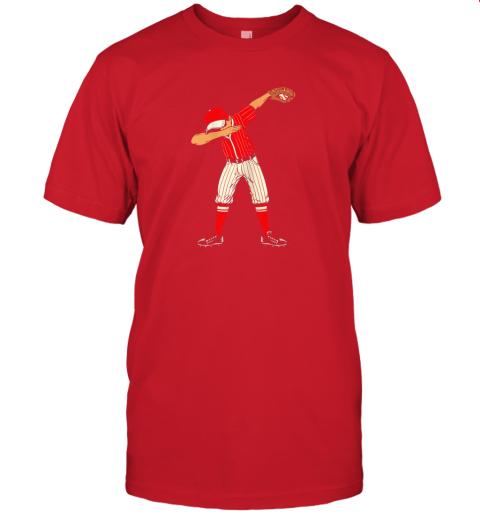 lo1e dabbing baseball catcher gift shirt kids men boys bzr jersey t shirt 60 front red