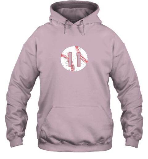 ffhw vintage baseball number 11 shirt cool softball mom gift hoodie 23 front light pink