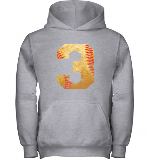 i1ey three up three down baseball 3 up 3 down youth hoodie 43 front sport grey