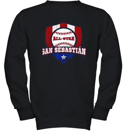 San Sebastian Puerto Rico Puerto Rican PR Baseball Youth Sweatshirt