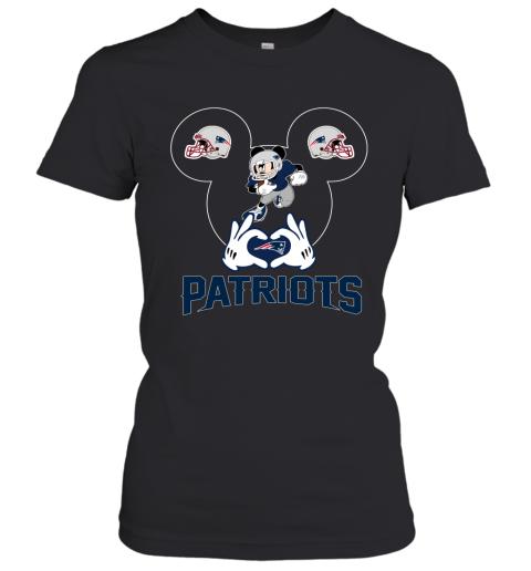 I Love The Patriots Mickey Mouse New England Patriots Women's T-Shirt