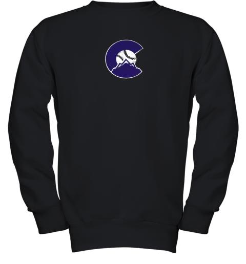 Colorado Rocky Mountain Baseball Sports Team Youth Sweatshirt