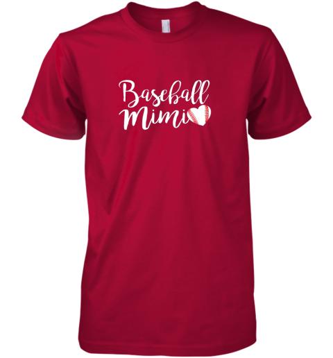 q6my funny baseball mimi shirt gift premium guys tee 5 front red