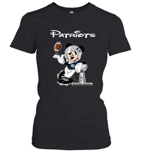 Mickey Patriots Taking The Super Bowl Trophy Football Women's T-Shirt