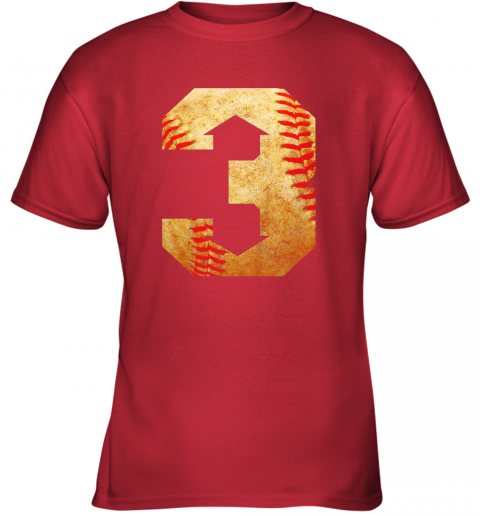 b3qc three up three down baseball 3 up 3 down youth t shirt 26 front red