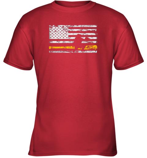 fdqx softball catcher shirts baseball catcher american flag youth t shirt 26 front red