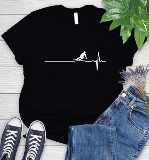 Skiing This Is How My Heart Beats Women's T-Shirt