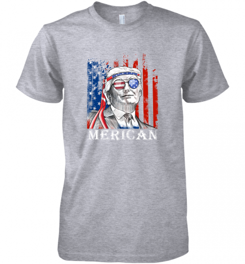 eko2 merica donald trump 4th of july american flag shirts premium guys tee 5 front heather grey
