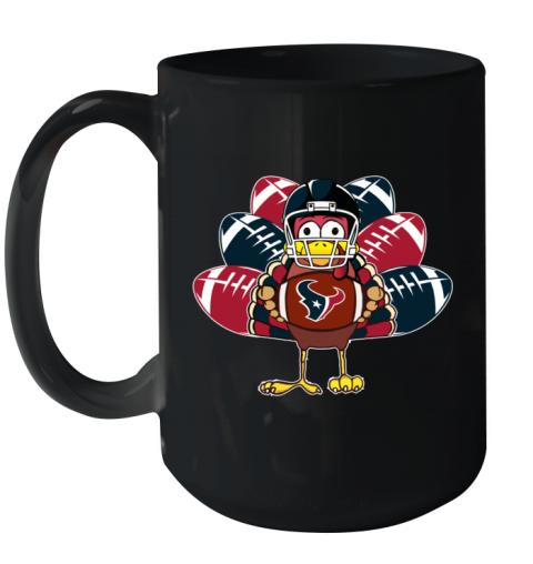 Houston Texans  Thanksgiving Turkey Football NFL Ceramic Mug 15oz