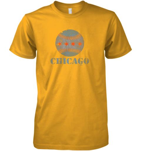 8ner vintage chicago baseball flag premium guys tee 5 front gold
