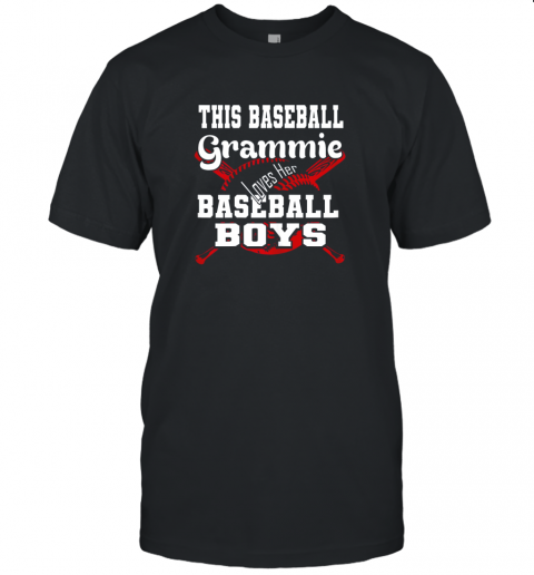 This Baseball Grammie Loves Her Baseball Boys Unisex Jersey Tee