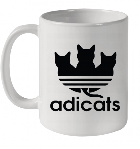 Adicats Three Black Cats Adidas Logo Mashup Ceramic Mug 11oz