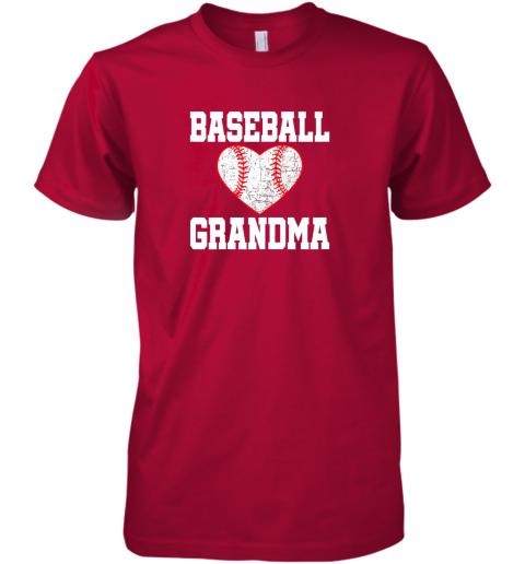 ryjq vintage baseball grandma funny gift premium guys tee 5 front red
