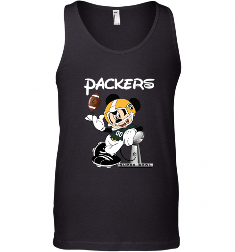 Mickey Packers Taking The Super Bowl Trophy Football Tank Top