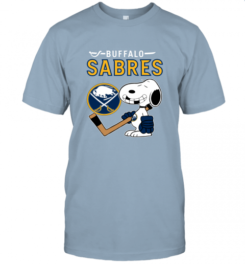 Buffalo Sabres Ice Hockey Broken Teeth Snoopy NHL Unisex Jersey Tee