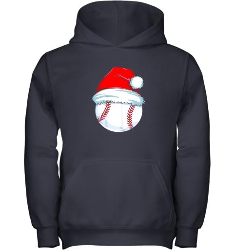 e3vp christmas baseball shirt for kids men ball santa pajama youth hoodie 43 front navy