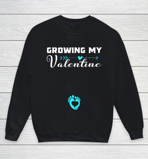 Cute Growing my Valentine Gift for Women pregnancy Youth Sweatshirt