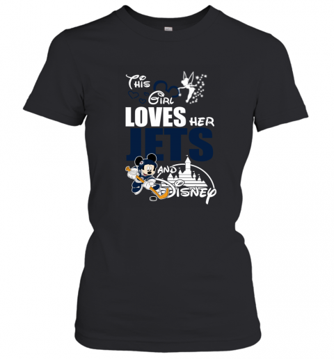 Girl Love Her WINNIPEG JETS And Mickey Disney Women's T-Shirt