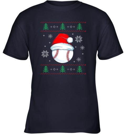 8yuz ugly christmas baseball shirt boys kids ball santa pajama youth t shirt 26 front navy